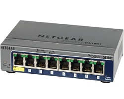 Netgear GS108T-200 8-Port 10/100/1000 Full Duplex Gigabit Smart Switch (V2)