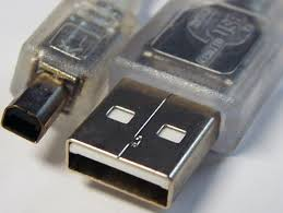 8WARE USB 2.0 Cable 3m A to B 4-pin Mini Transparent Metal Sheath UL Approved