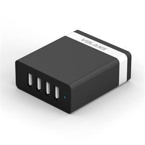 Volans4-Port USB Smart Charger - Aluminium