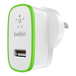 Belkin MIXITUP Single USB to Wall Charger 2.1Amps White