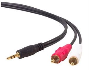 Alogic 2m 3.5mm Stereo Audio to 2x RCA Stereo Male Cable(1) Male to (2) Male