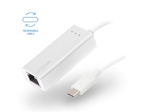 VROVA PLUS USB-C to Gigabit Ethernet Adapter - Aluminium