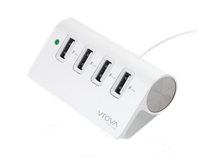 VROVA Elite 4 Port USB Charger with Smart Charge 4 x 2.4A