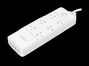 Orico 6 Port AC 4 Port USB Surge Protector Board - White
