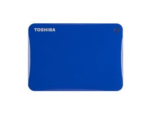 Toshiba 2TB Canvio Connect II Portable Hard Drive - Blue