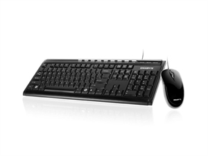 Gigabyte KM6150 USB Wired Keyboard & Mouse Bundle - Black