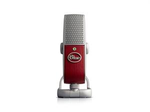 Blue Raspberry USB & Lightning Microphone - Red
