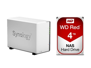 Synology 2 Bay DS216SE NAS + 8GB (2 x 4TB) WD Red NAS HDD Bundle