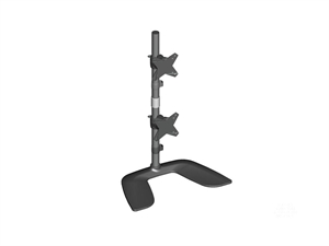 """Brateck Free Standing Dual Vertical LCD Monitors Stand from 13-24"""""""