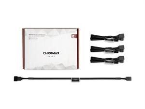 Noctua NA-SEC1 chromax.black 30cm 4Pin PWM Extension Cables (3 Pack)