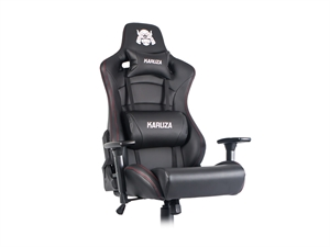 Karuza YX-0026 Gaming Chair - Black/Red Trim