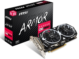 MSI AMD Radeon RX 570 Armor 8GB OC Edition Gaming Graphics Card