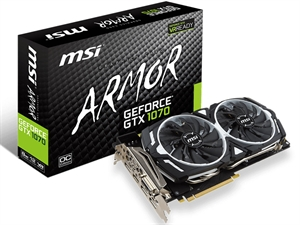MSI GTX 1070 Armor 8GB OC Gaming Graphics Card