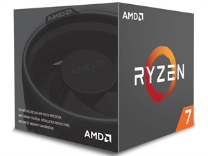 AMD Ryzen 7 1700 8 Core AM4 CPU with Wraith Spire Cooler - YD1700BBAEBOX