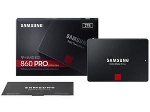 """Samsung 860 PRO 2TB 2.5"""" SATA III SSD - MZ-76P2T0BW"""