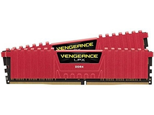 Corsair Vengeance 8GB (2x4GB) DDR4 3000MHz Desktop RAM - Red
