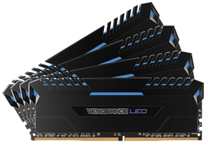 Corsair Vengeance LED 32GB (4 x 8GB) DDR4 3000MHz C15 Desktop RAM - Blue LED