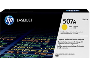 HP 507A LaserJet Toner Cartridge - Yellow
