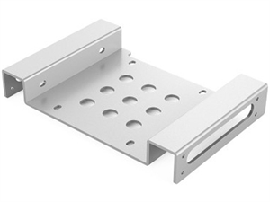 ORICO Aluminum 5.25 inch to 2.5 or 3.5 inch Hard Drive Caddy - Silver