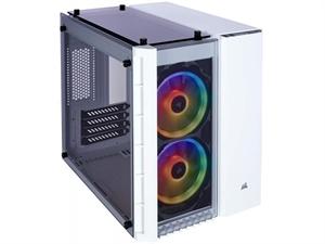 Corsair Crystal 280X RGB Tempered Glass Micro-ATX Case - White