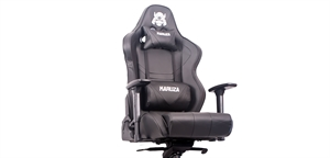 Karuza YX-802+ Multi Tilt Mechanism Gaming Chair - Black/Black