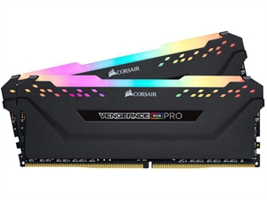Corsair Vengeance RGB PRO 16GB (2x 8GB) DDR4 2666MHz Desktop RAM - Black