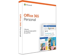 Microsoft Office 365 Personal 1 Year Subscription 1 User - Medialess
