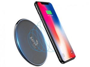 AeroCool Slimline 5V/1A Wireless Charger w/ LED light - Black
