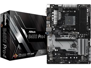 B450 Pro4 AMD AM4 ATX Motherboard